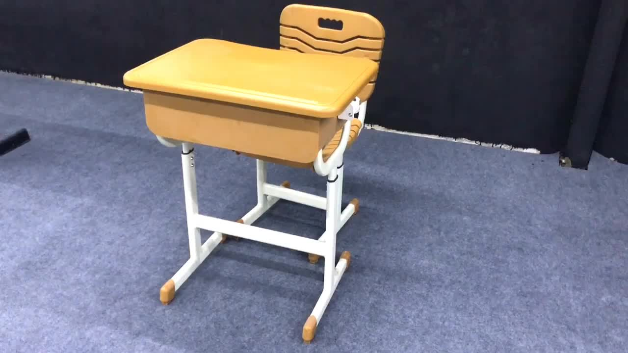Top quality ABS plastic school student desks and chairs set