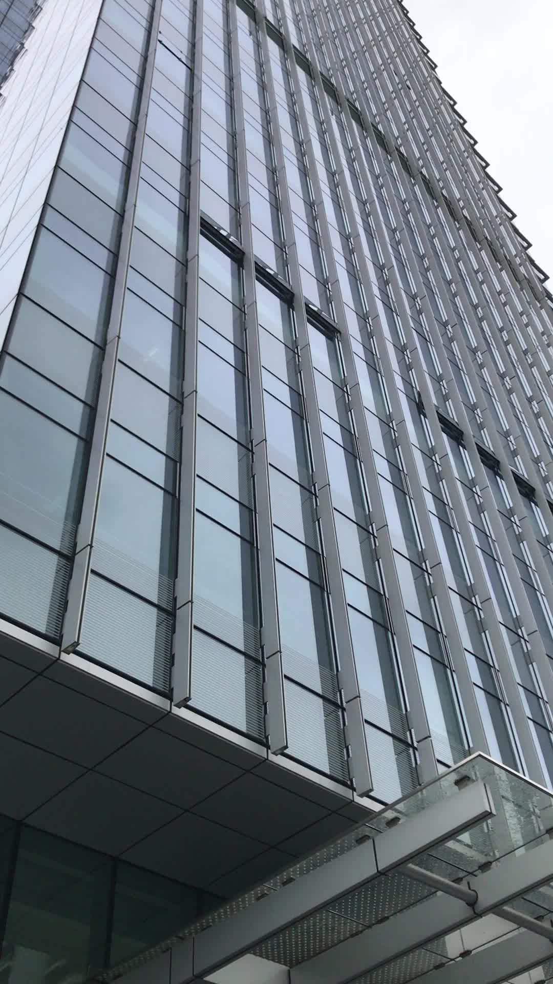Glazed Aluminum Curtain Wall House : Glass curtain wall for commercial building and residential