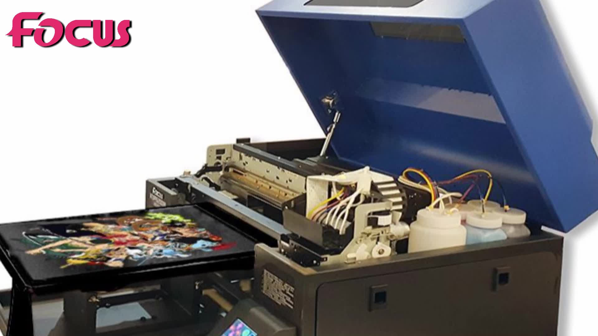 Automatic Inkjet T-shirt Printer Dtg Direct To Garment T ...