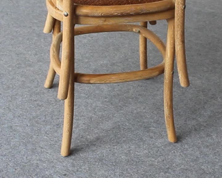 Low price french style solid oak wood children cross back chair