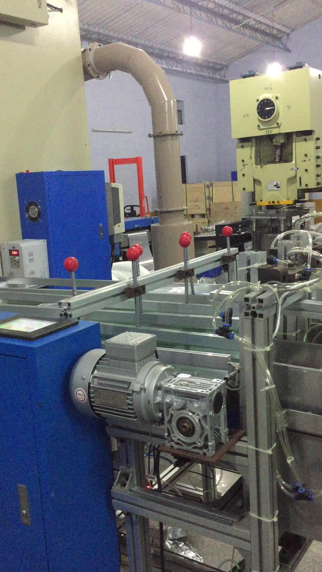 自動アルミ箔容器パンチングマシン