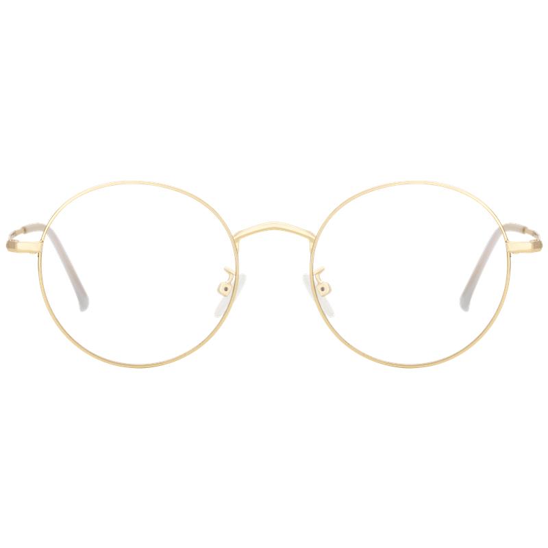 光学小框女素颜ins小脸金色眼镜框质量如何?