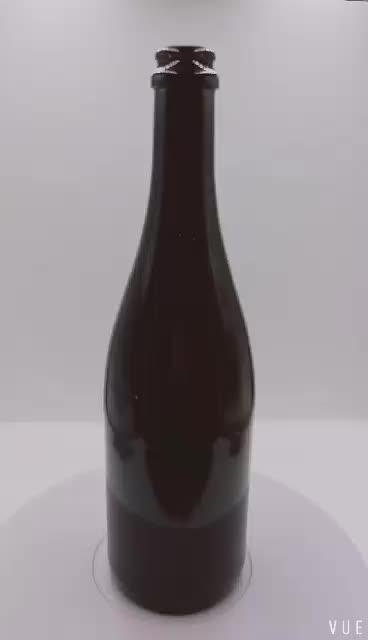 Дешевая цена на заказ высокопоставленная Янтарная стеклянная бутылка пива