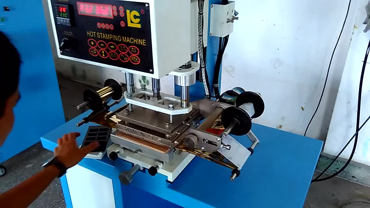 Pneumatic Gold Hot Foil Stamping Machine TC-200 for leather and plastic