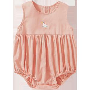 迷你巴拉巴拉婴儿外出三角哈衣2020夏季新款女宝宝轻薄连体包屁衣