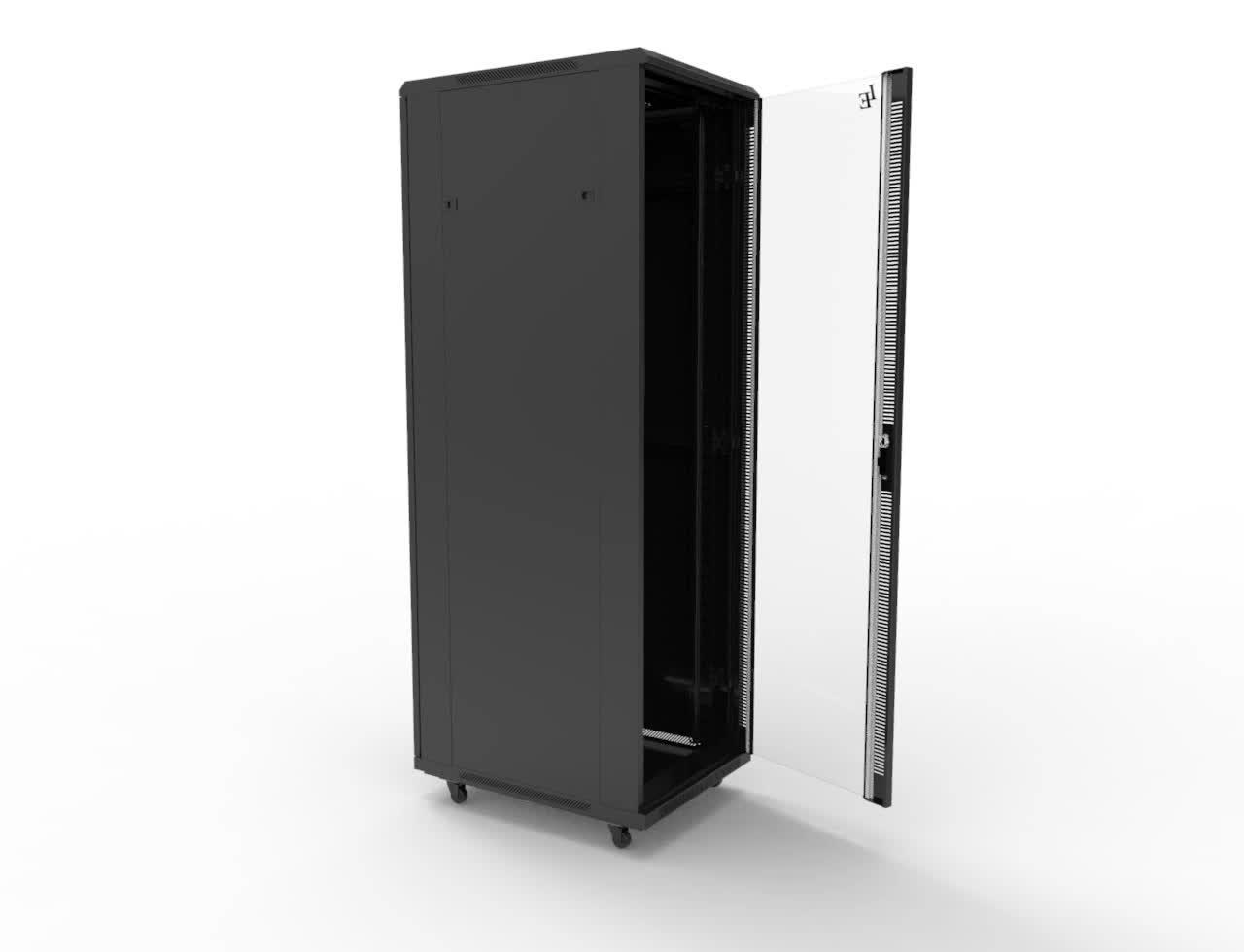 19 Inch 18u 47u Spcc Glass Or Mesh Door Network Cabinet