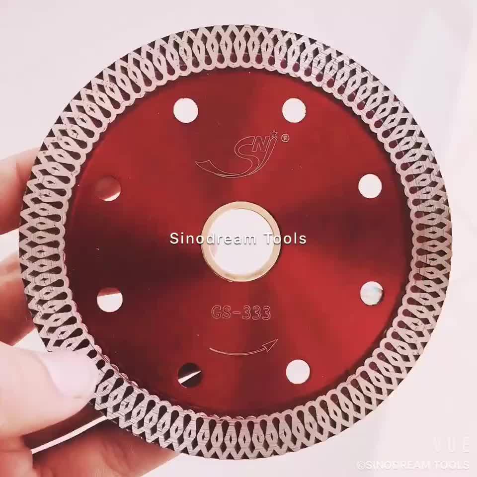 Top quality hot pressed 105mm Turbo diamond circular cutting saw blade