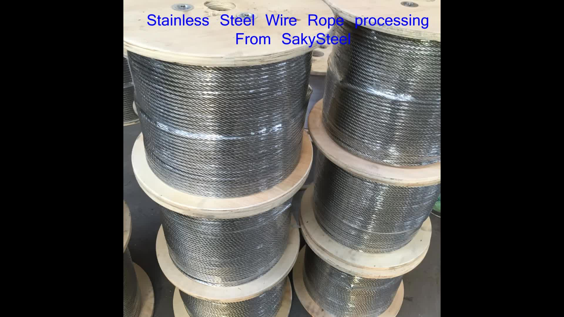 304 316 316l Galvanized Stainless Steel Wire Rope 6x19 7x19 1x19 ...