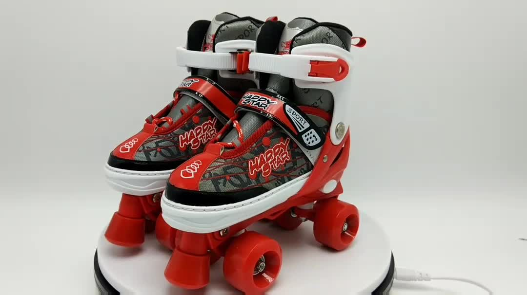 new style whirlwind skating flashing roller wholesale 4 wheels adjustablerental roller skate quad roller skates break