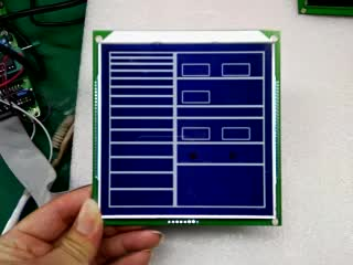 7 segment lcd panel customized monochrome display