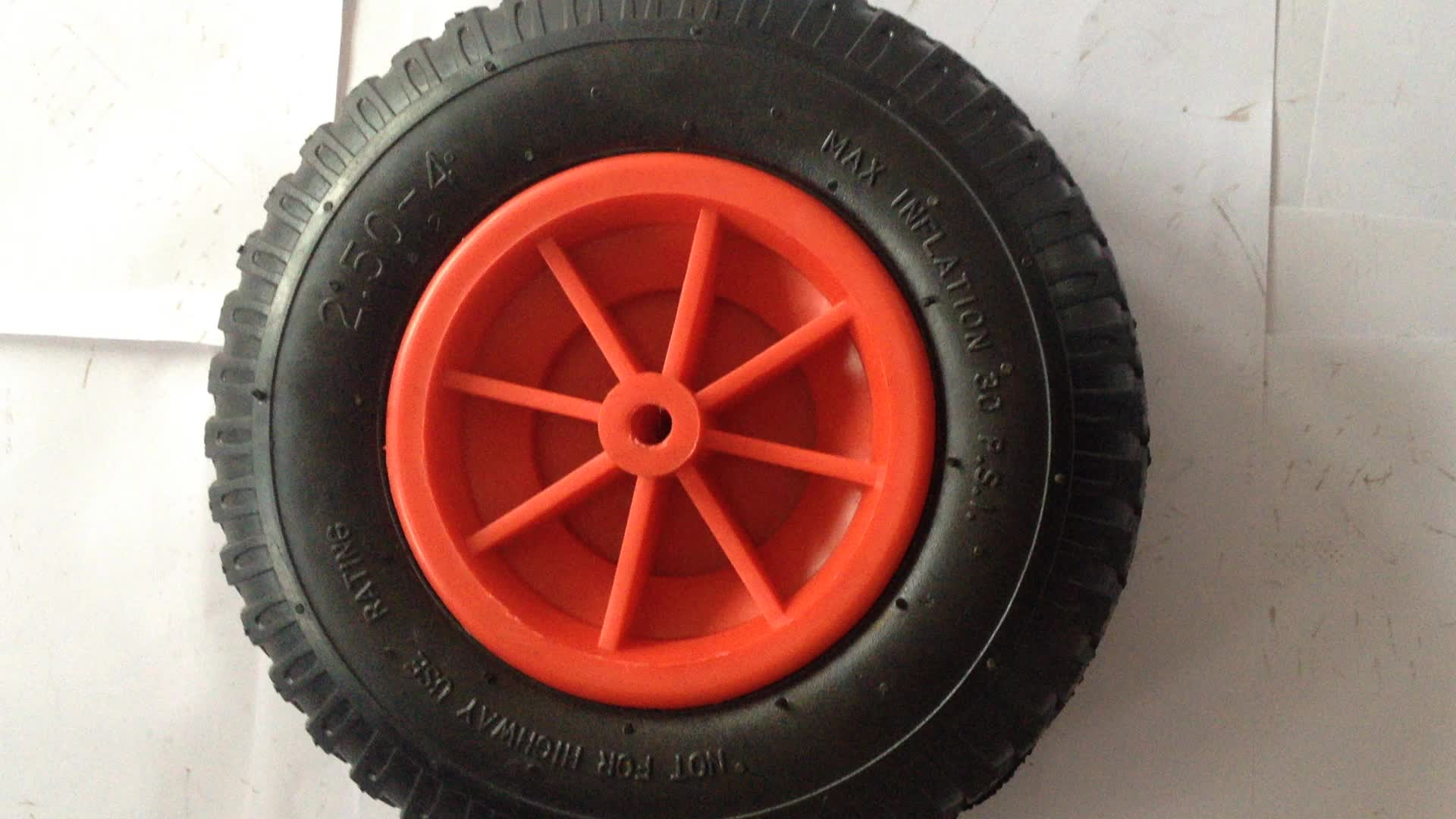 Small Inflatable Air Filled Rubber Wheel Pneumatic Tire 3
