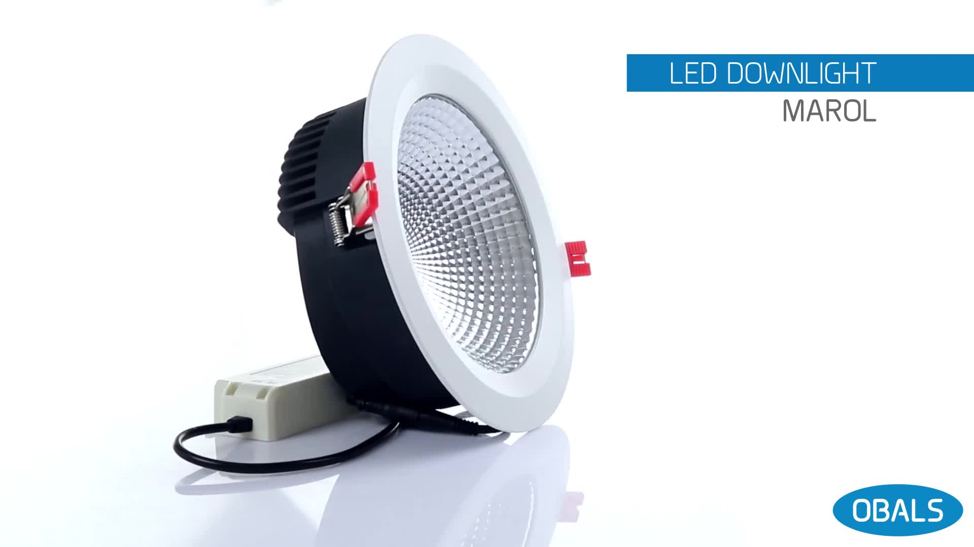 Obals 12W 5 Inch CE RoHs SAA SMD LED Ceiling Lamp Trimless Three-Color Temperature Downlight LED