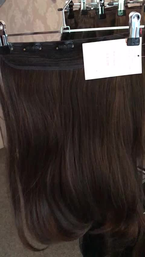 Cheap One Piece Thick Clip In Hair Extensions 3 4 Full Head Ombre