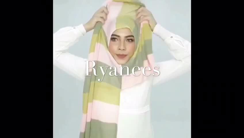 Malezya Örme Anında müslüman eşarp Kadın Başörtüsü (Gerek Pin ve Demir)