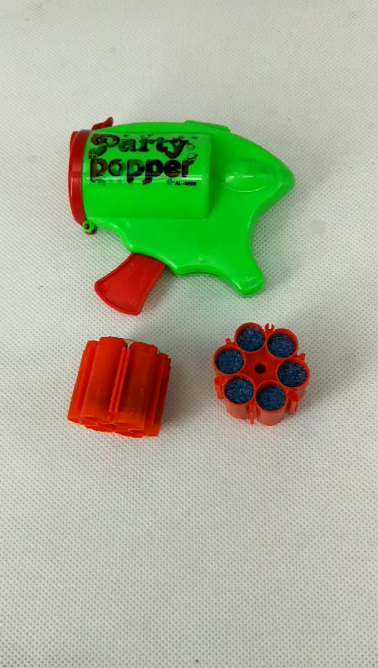 Wholesale amazing party popper with gun and bullet