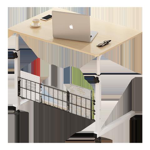 电脑桌懒人床边桌台式家用简约书桌宿舍简易床上小桌子可移动升降