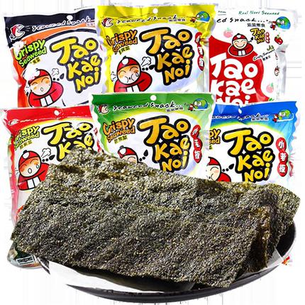 泰国进口老板仔32g*5包脆海苔片