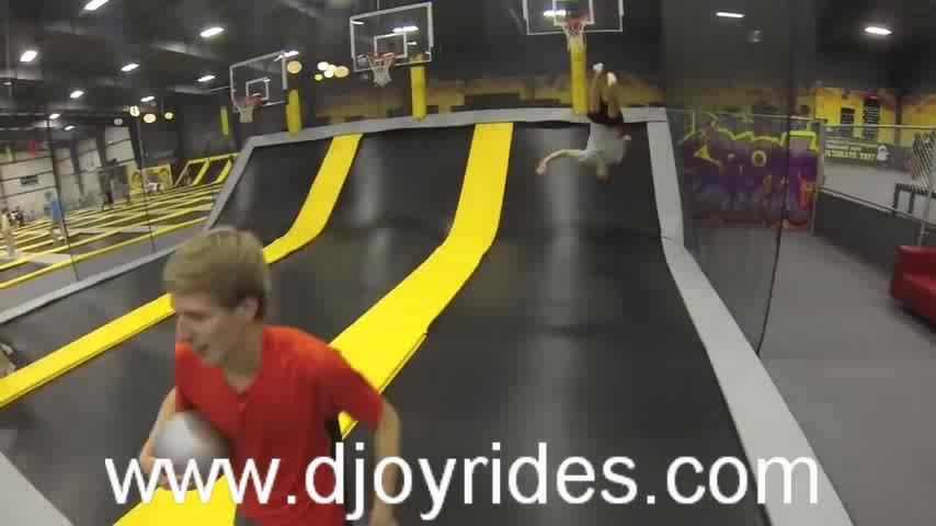 play games for shopping malls trampolines with net