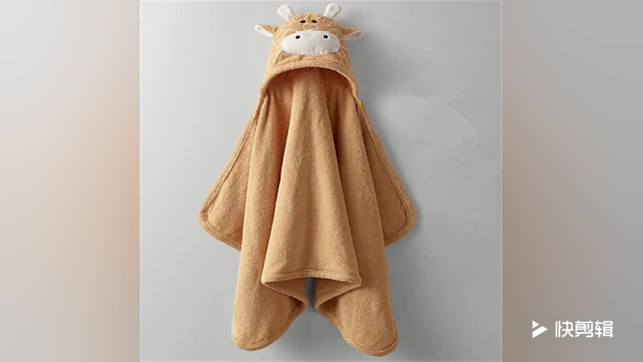 Animal Face Hooded Baby Towel Kids bath towel