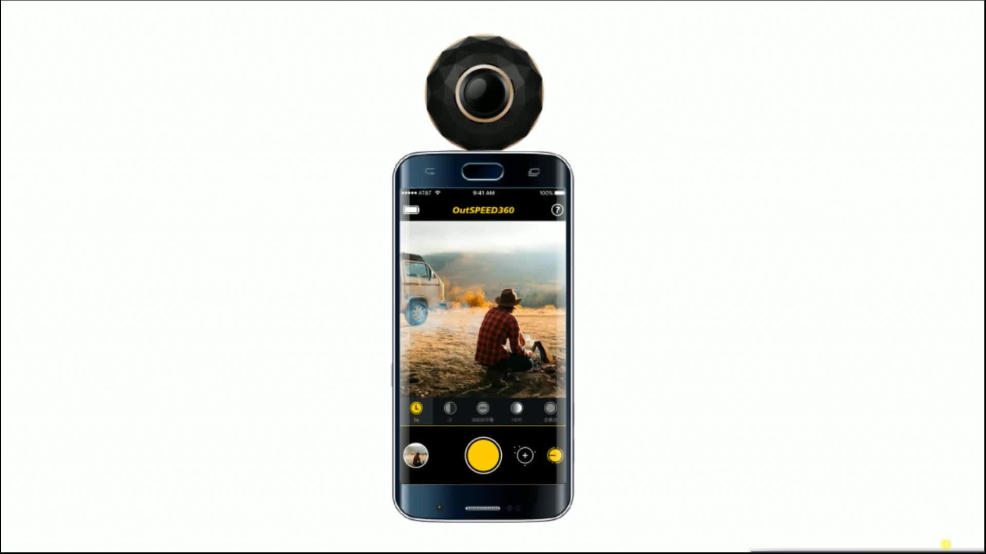 Full HD 360 Derece Kamera VR 3D Spor Mini Panoramik WiFi 4 K Kamera