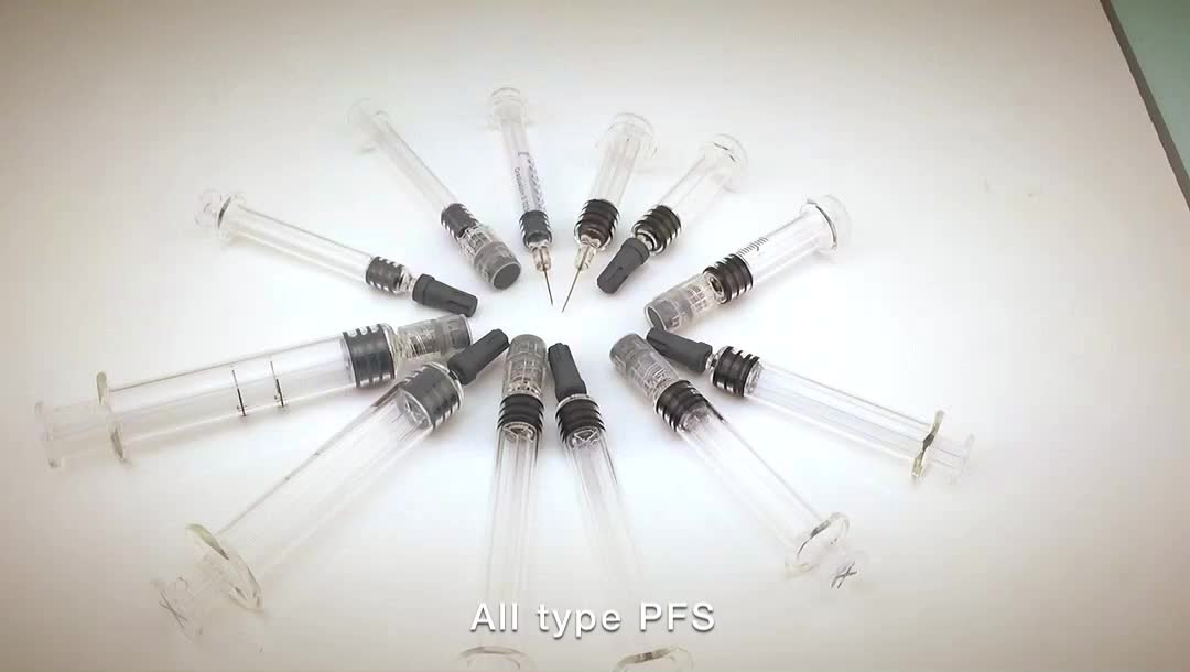 Marked CBD oil Glass Syringe with Luer Slip/Luer Lock