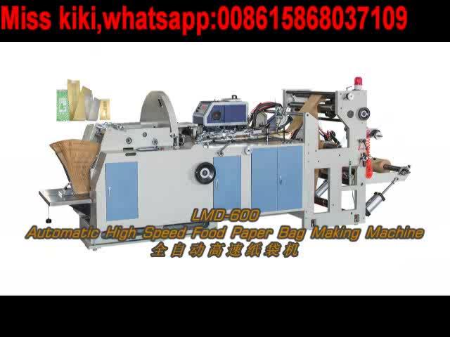 Máquina automática para fabricar bolsas de papel para alimentos de alta velocidad