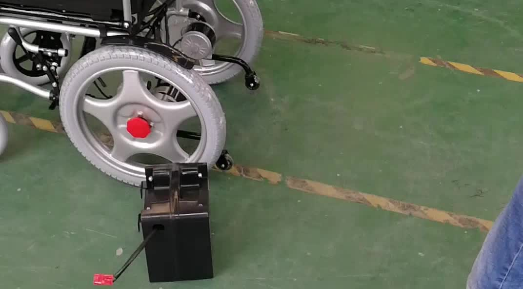 Electric self-locking brake mobility outdoor use wheelchair