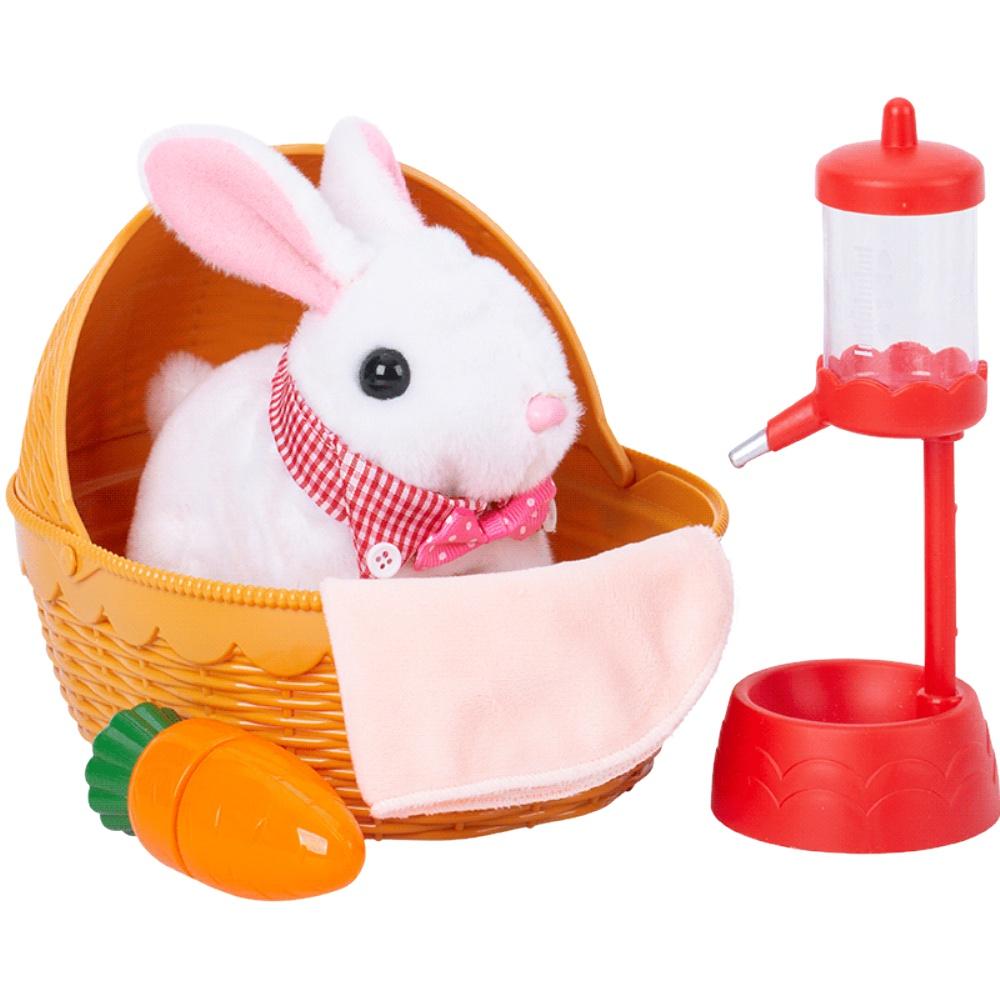 仿真电动可爱会走女孩兔子毛绒玩具评价如何