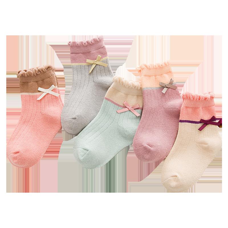 女童袜子纯棉秋冬婴儿宝宝儿童中筒袜小孩公主1-3-9-12岁中大童袜