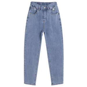 哈伦九分2021年夏季新款宽松牛仔裤