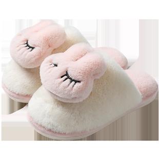 可爱2019新款家用室内家居毛棉拖鞋