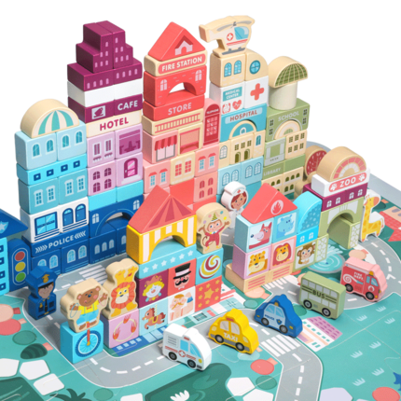幼儿童木头拼装宝宝玩具1 3 6积木