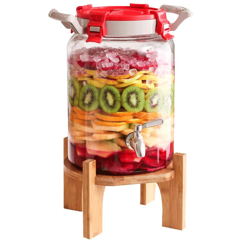 玻璃酵素桶家用自动排气孝素桶泡酒瓶子自制水果酵素发酵桶密封罐