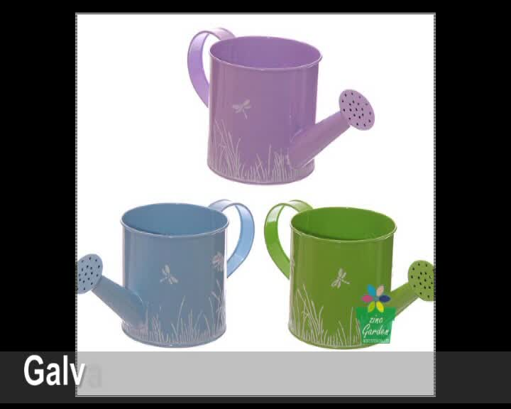 Cheap colorful galvanized steel small metal decorative mini watering cans for kids use
