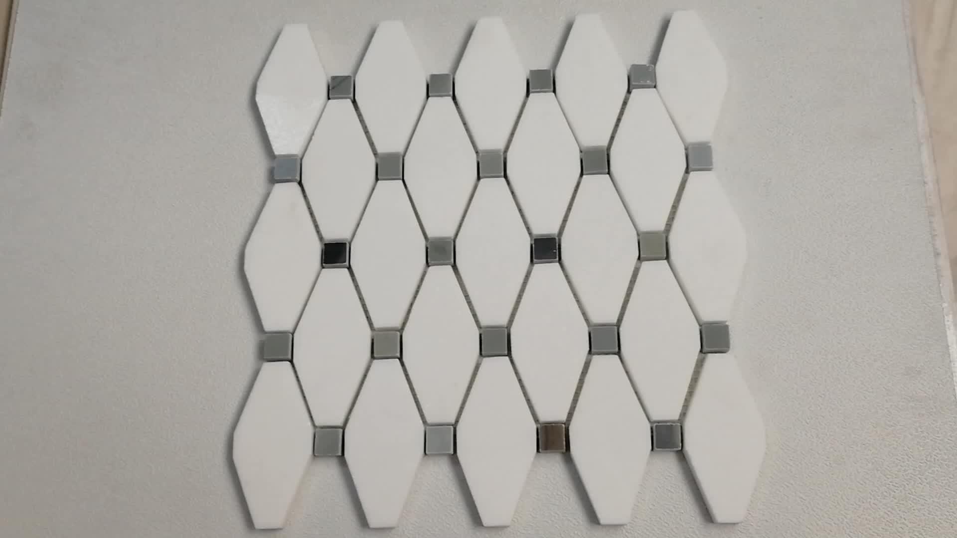 Hexagon Tegels Badkamer : Hexagon badkamer wit carrara marmer mozaïek tegel buy carrara