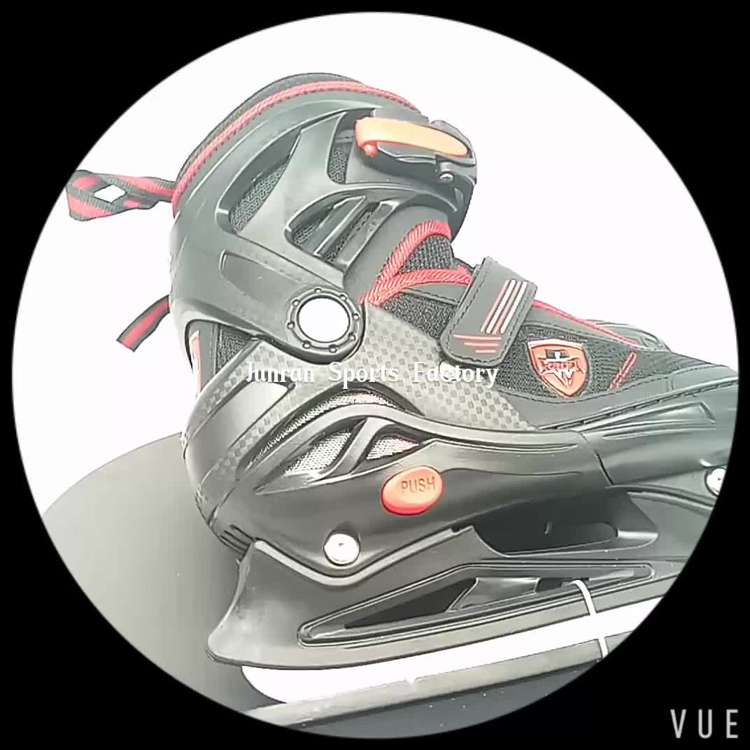 High Quality Special Mesh Semi Soft Toe Ice Skating Shoes for Ice Rink Rental