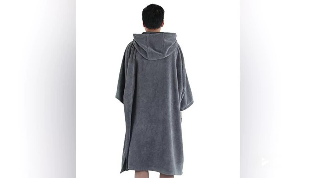 Hot selling Adult Microfiber surf toalla poncho con capucha towel