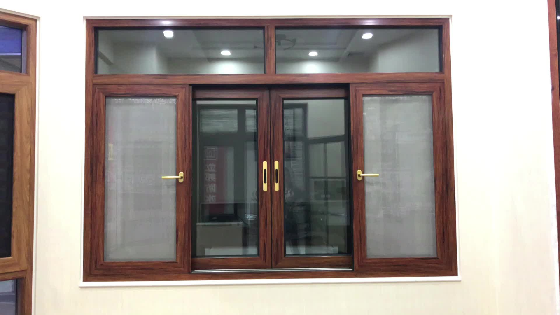 Guangzhou aluminum windows doors aluminium double glazed sliding window