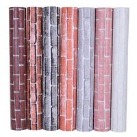 墙纸自粘3d立体砖纹墙贴防水防潮复古贴纸仿古墙裙餐厅背景墙壁纸
