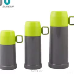 Fashional eco-friendly plastic water thermos flask with glass liner