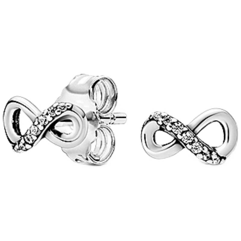 Pandora潘多拉闪亮永恒符号耳钉298820C01情侣浪漫送女友送礼物