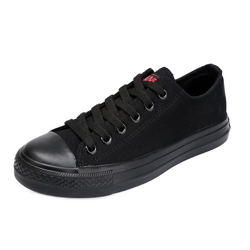 全黑工作鞋大码44-48帆布鞋男鞋好用吗