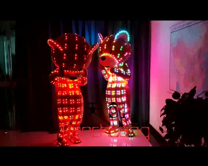Inflable Oso de dibujos animados traje de oso de peluche trajes con LED