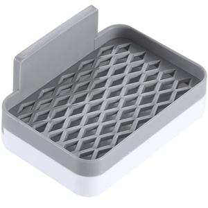 免打孔双层肥皂盒沥水卫生间香皂置物架家用吸盘壁挂式浴室香皂盒