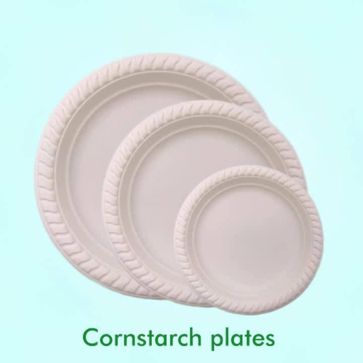Anhui High Quality Disposable Biodegradable Food Grade Plastic Corn Starch Plates & Anhui High Quality Disposable Biodegradable Food Grade Plastic Corn ...