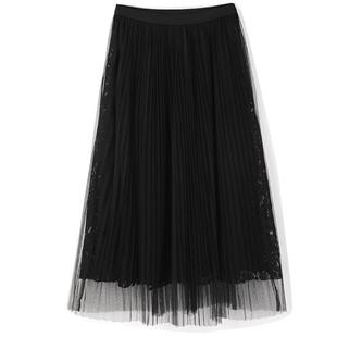 黑色秋冬2019新款金丝绒仙女半身裙