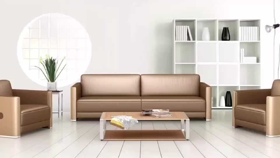 High end golden office sofa furniture luxury sofa sets for High end living room furniture