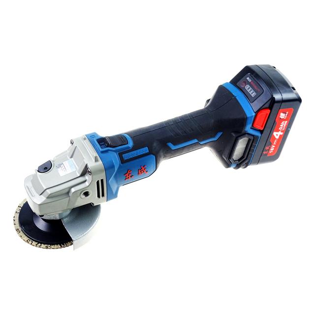 东成充电式角向磨光机02-100无刷锂电角磨机切割机砂轮机打磨机