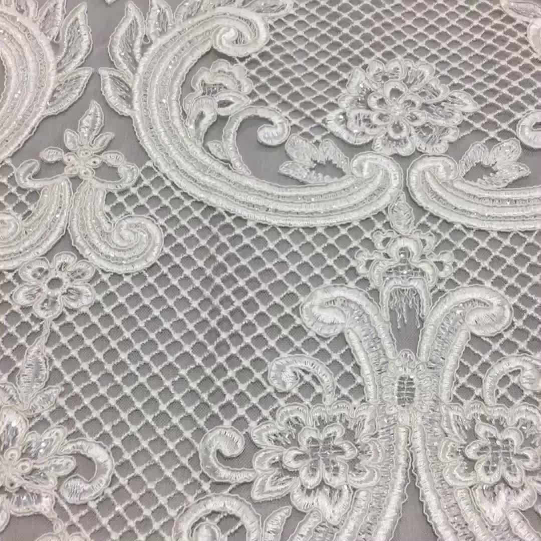 Wholesale Price Elegant Chantilly Bridal Clothes Fabric