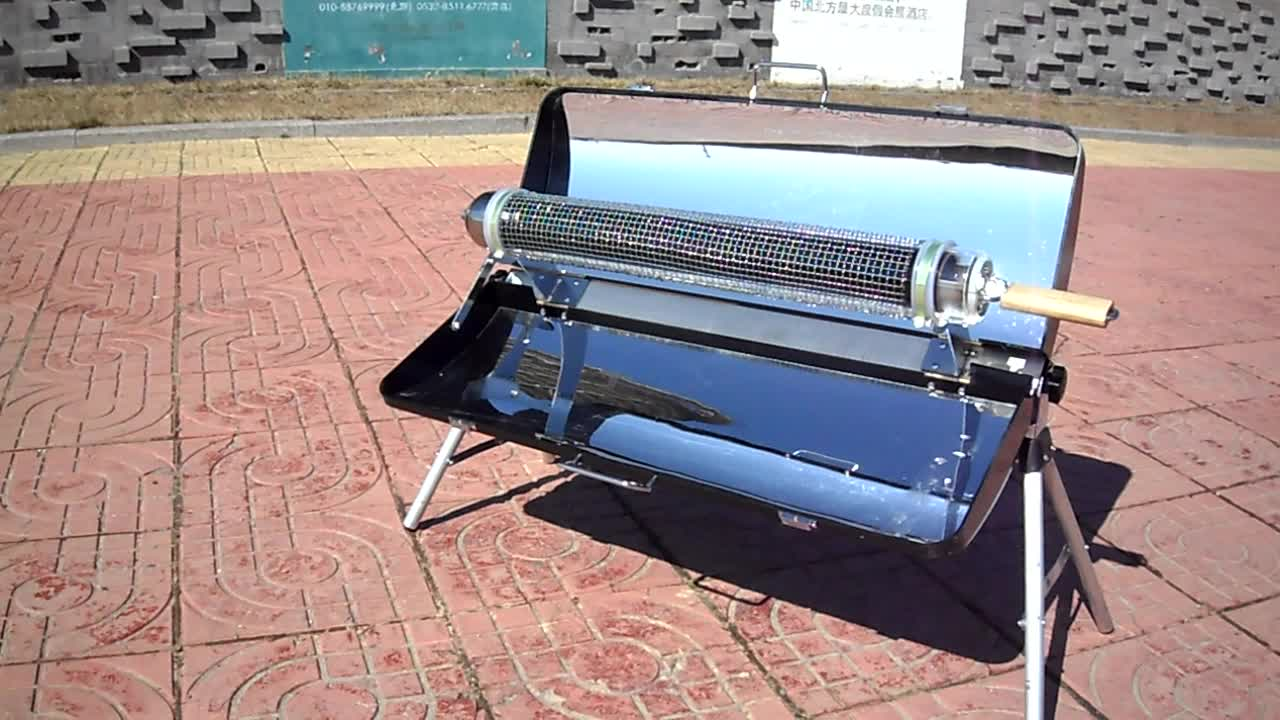 outdoor vacuum tube solar cooker stove